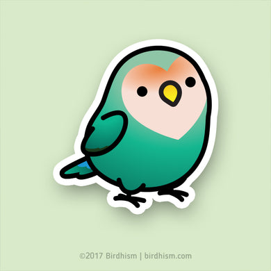 Chubby Dutch Blue Lovebird Stickers