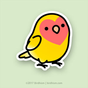 Chubby Lutino, Peach-faced Lovebird Stickers