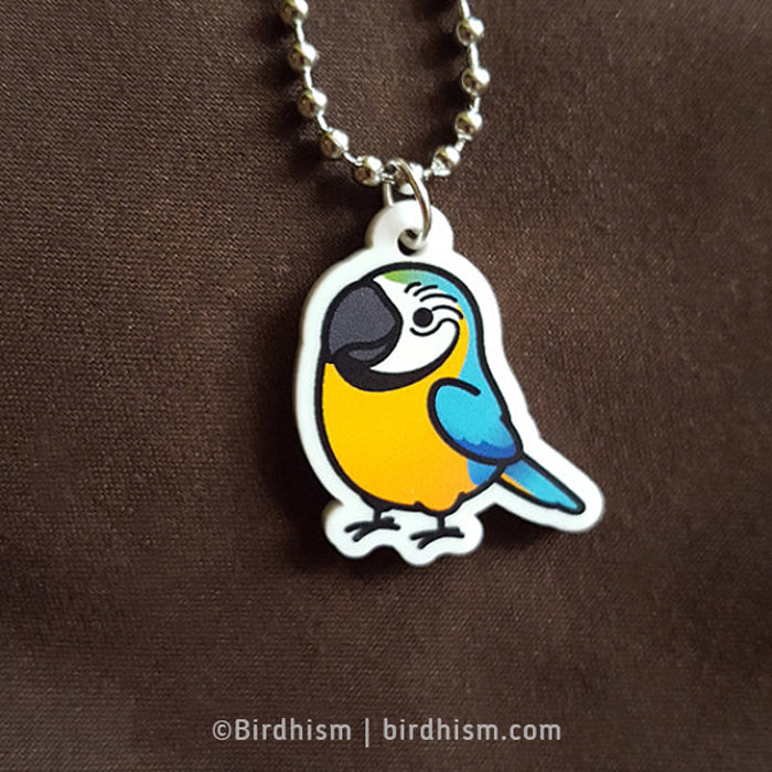 Chubby Blue & Gold Macaw Necklace