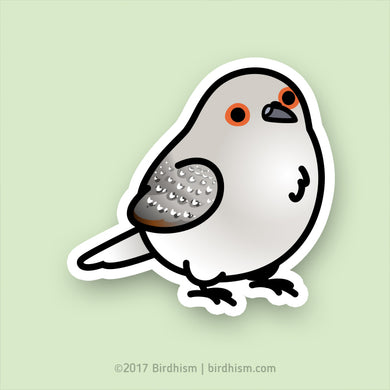 Chubby Diamond Dove Stickers