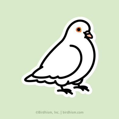 Chubby Dove Stickers