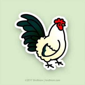 Chubby Rooster Stickers