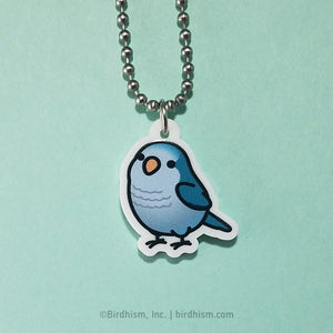 Chubby Blue Quaker Parrot Necklace