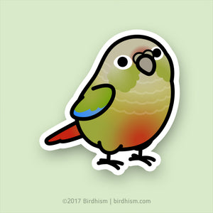 Chubby Cinnamon Green Cheek Conure Stickers