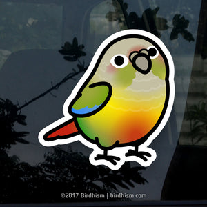 Chubby Pineapple Green Cheek Conure Stickers