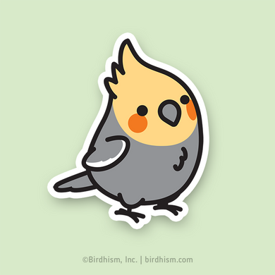 Chubby Cockatiel Stickers