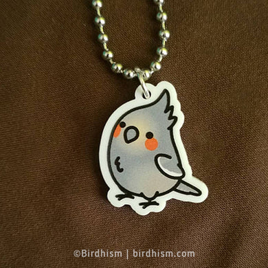 Chubby Female Cockatiel Necklace