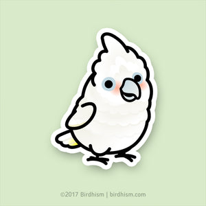 Chubby Goffin Cockatoo Stickers