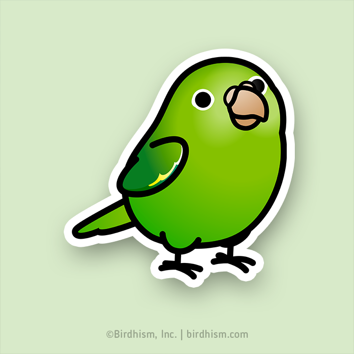 Chubby Canary-winged Parakeet Stickers