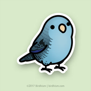 Chubby Blue Lineolated Parakeet, Barred Parakeet Stickers