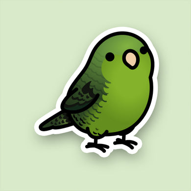 Chubby Green Lineolated Parakeet, Barred Parakeet Stickers