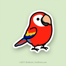 Chubby Scarlet Macaw Stickers (Matte)