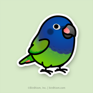 Chubby Blue-headed Pionus Stickers