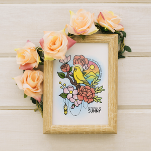 Custom Kawaii-styled Bird Illustration