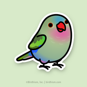 BACK ORDERED: Chubby Princess Parrot Stickers