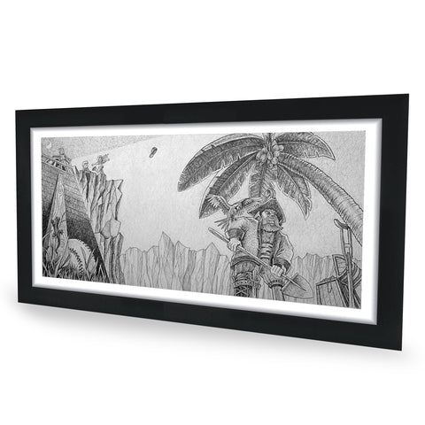 Pirate Original Graphite Drawing