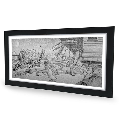 Shipwreck Original Graphite Drawing