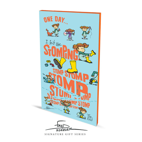 STOMP Stretched Canvas Art Print