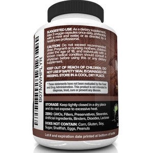 Nutrivein Mushroom Complex Supplement 2500mg - 90 Capsules