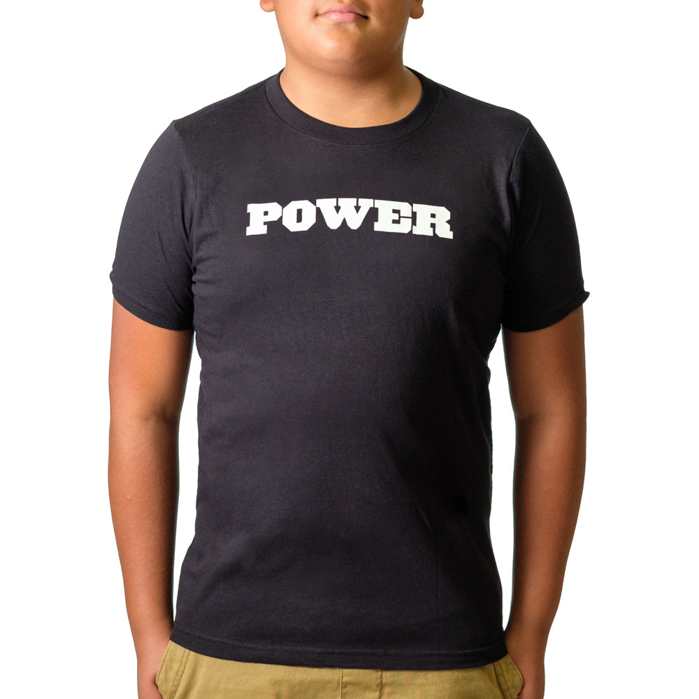 Youth POWER Shirt Black - Image 02