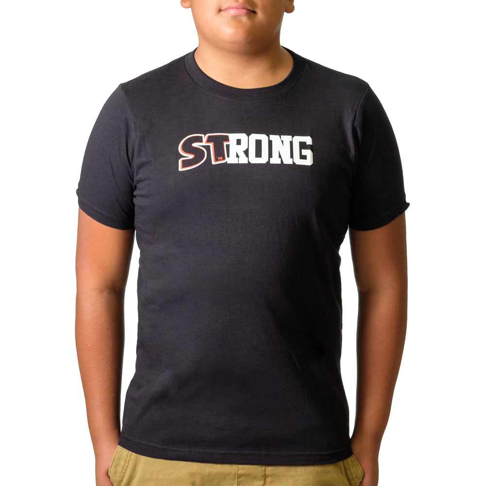 Youth STrong Shirt Black - Image 01