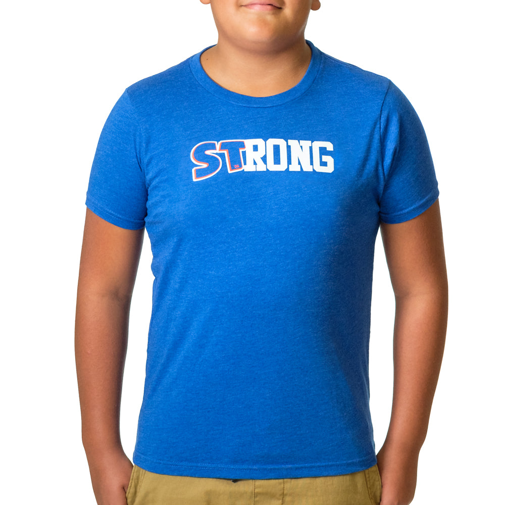 Youth STrong Shirt Blue - Image 02
