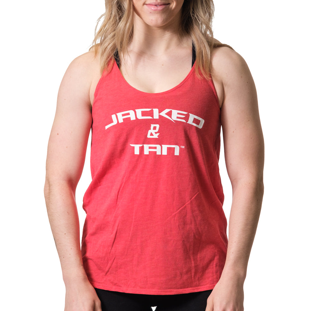Women's Jacked and Tan Flowy Tank Red - Image 01
