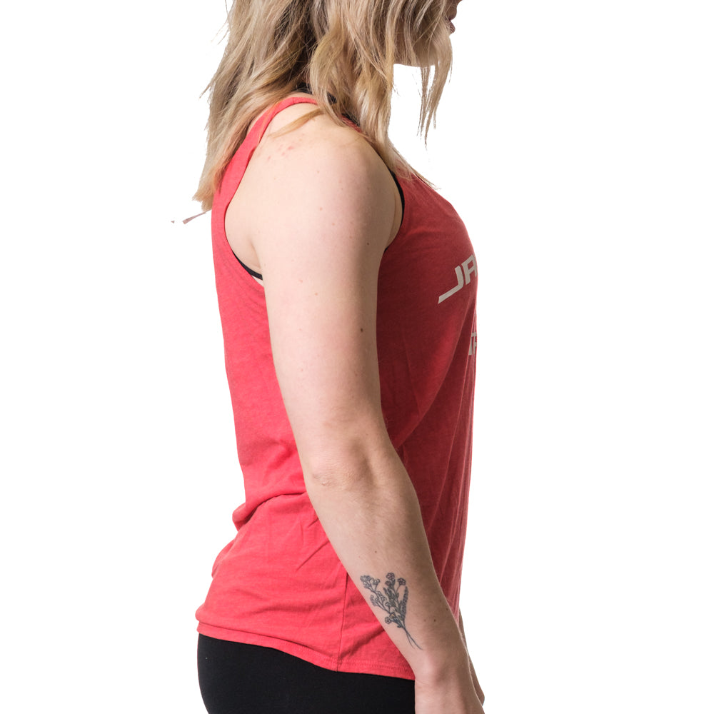 Women's Jacked and Tan Flowy Tank Red - Image 02