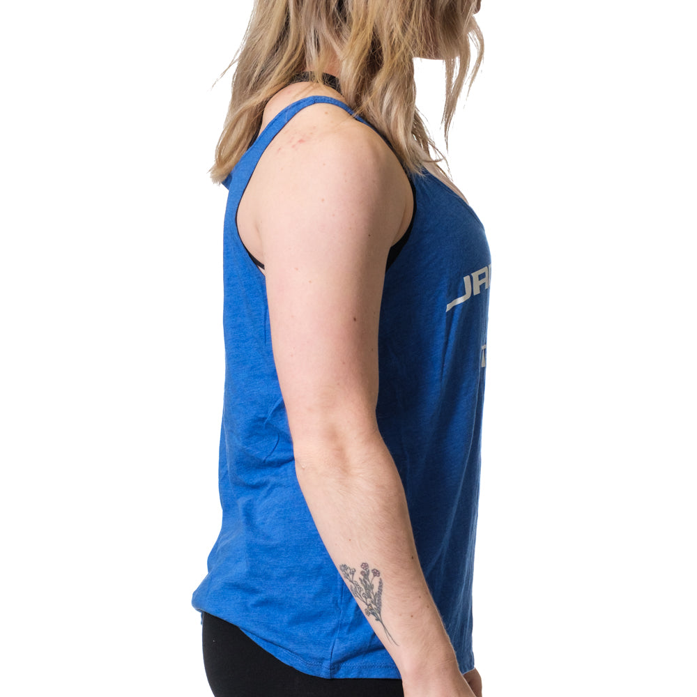 Women's Jacked and Tan Flowy Tank Blue - Image 02