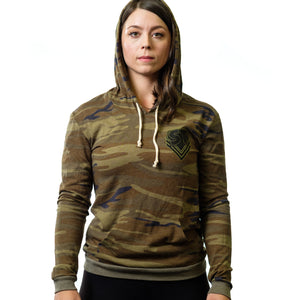 Women's Camo Sweatshirt - Mark Bell - Sling Shot