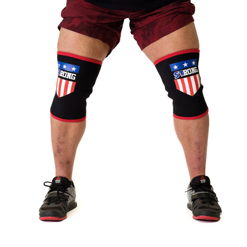 MB3 USA STrong Knee Sleeves - Mark Bell - Sling Shot