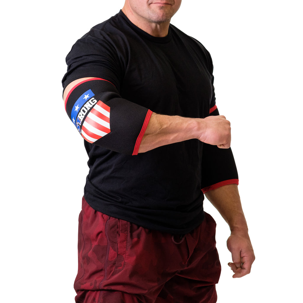 MB3 USA STrong Elbow Sleeves - Mark Bell - Sling Shot