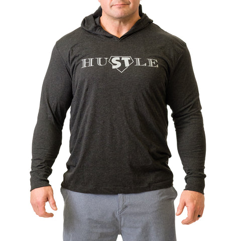 HuSTle Hooded Long Sleeve - Mark Bell - Sling Shot