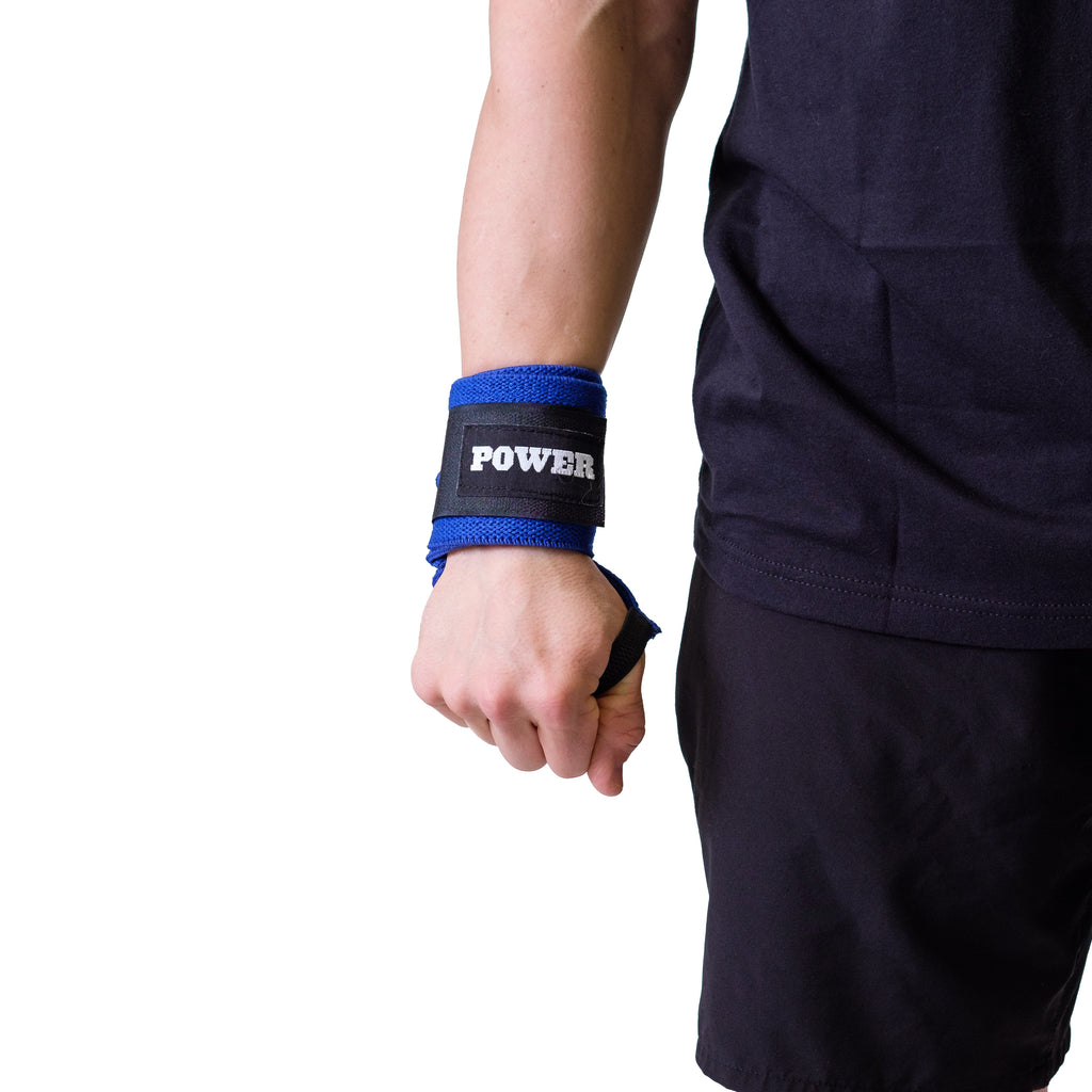 Power Wrist Wraps Blue - Image 01