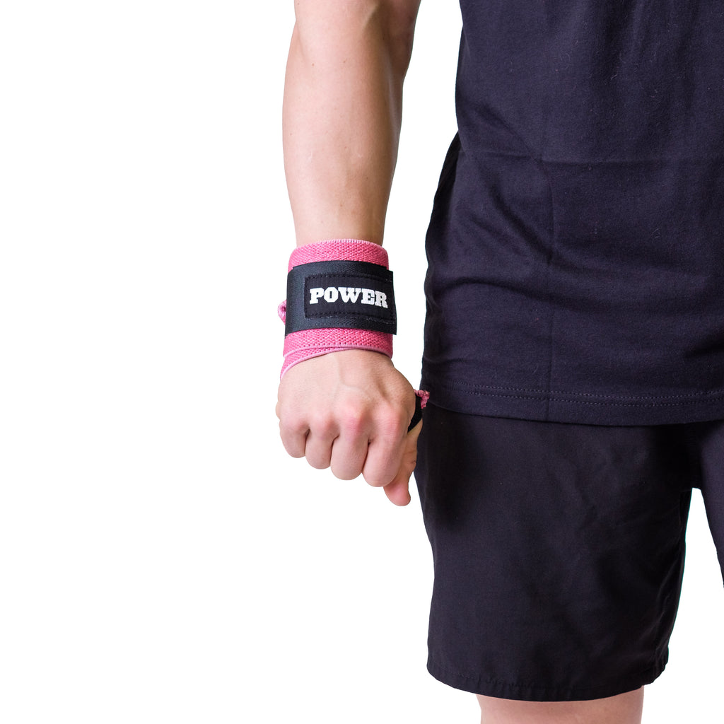 Power Wrist Wraps Pink - Image 01