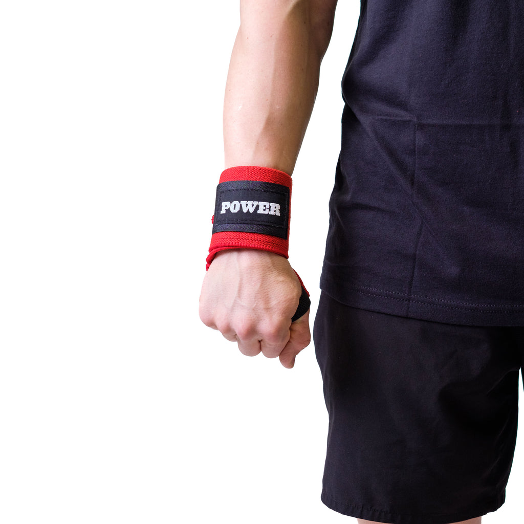 Power Wrist Wraps Red - Image 02