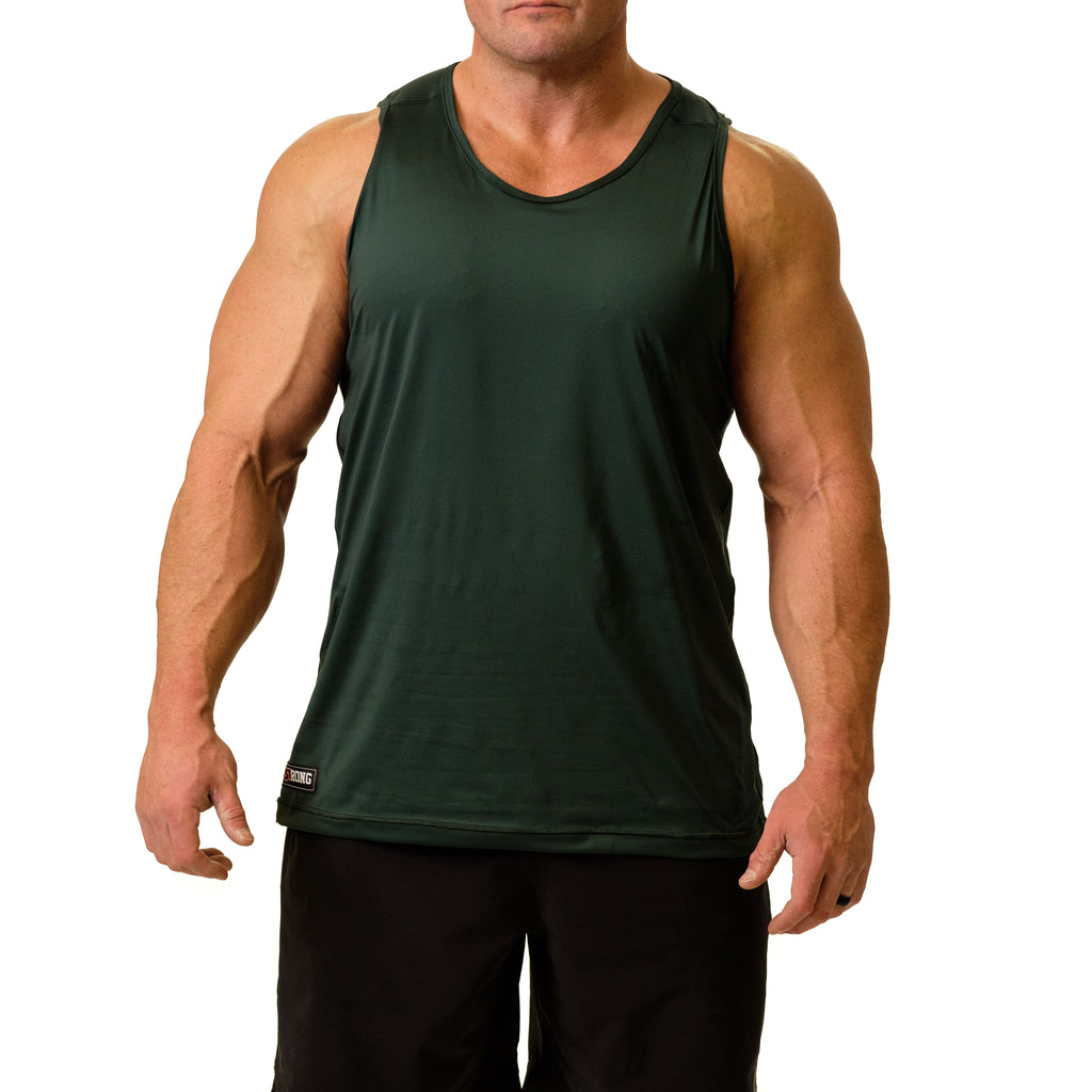 Men's STrong Performance Tank Green - Image 01