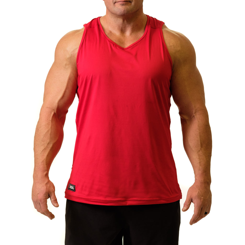 Men's STrong Performance Tank Red - Image 01