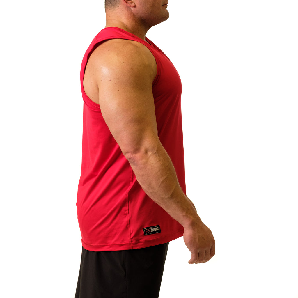 Men's STrong Performance Tank Red - Image 02