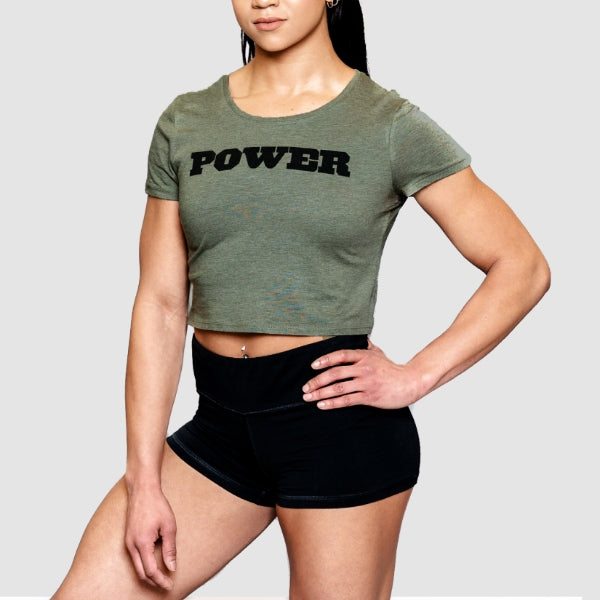 Women's POWER Crop Tee