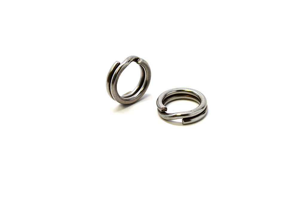 Owner 5196-041, HyperWire Stainless Split Ring, Size 4, 50 lb. - 12PK