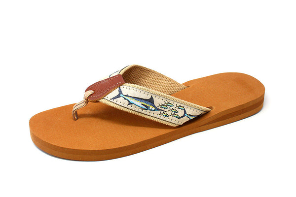 Zep-Pro Women's Embroidered Fish Sandals Natural Ribbon 5-10