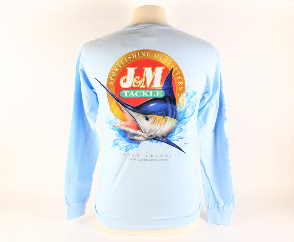 J & M Logo Full Color Pigment Dyed Long Sleeve w/ Pocket