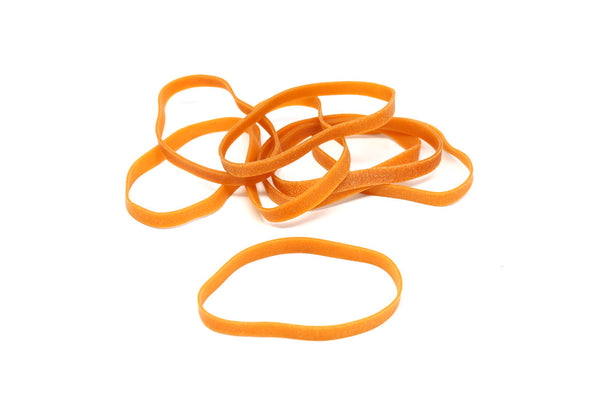 J&M Rubber Bands, 1/4 lb. Natural