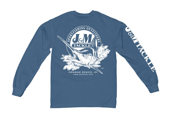 J&M Kid's Logo Pigment-Dyed Long Sleeve T-Shirt