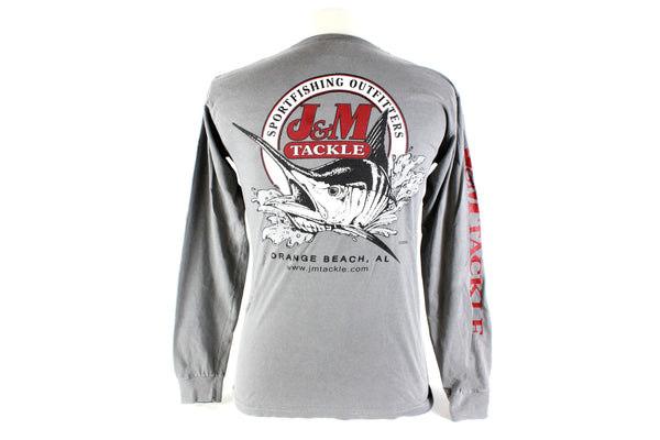 J&M Team Logo Long Sleeve Crimson & Grey