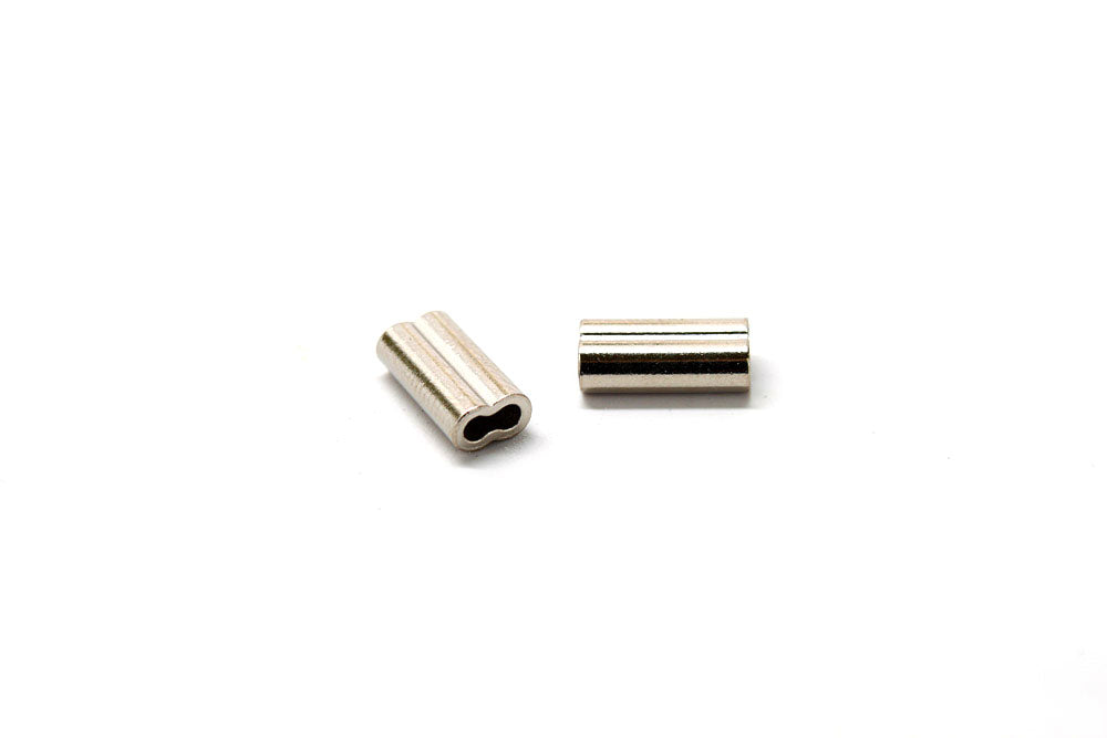 Nickel-plated Copper Double Sleeves, 1.6mm, 130/150 lb.