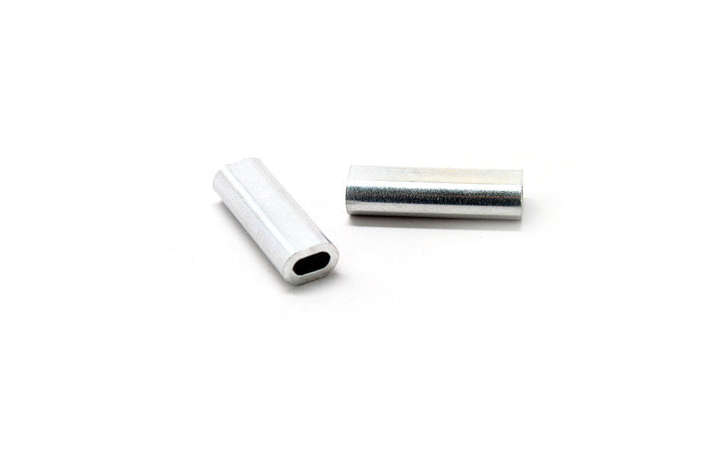 Aluminum Oval Sleeve 1.7mm, 130-200 lb.