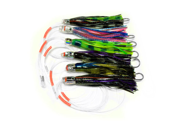 Black Bart Tuna/Dolphin Pack Rigged Single Hook