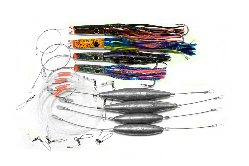 Black Bart Wahoo Pack Heavy, Rigged Single Hook